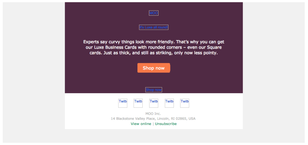 Colore sfondo email - immagini disattivate