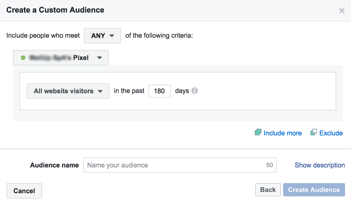 Create an audience