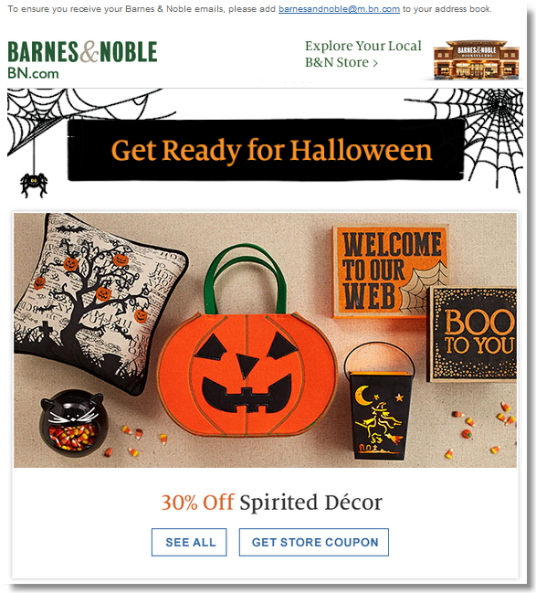 Halloween email campaigns