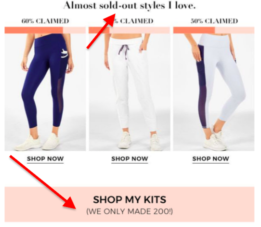 amlost sold out styles i love email