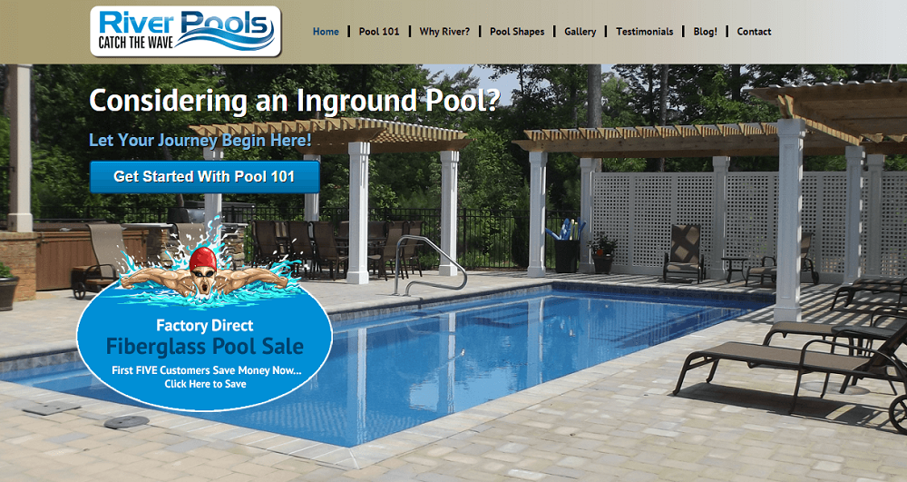 River Pools hompage