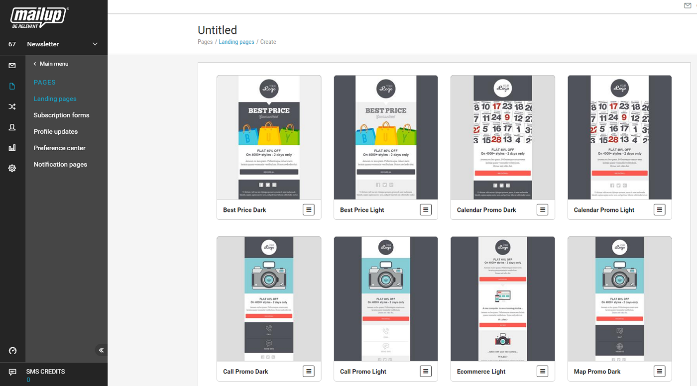 New Create Mobile Sms Landing Pages With Mailup