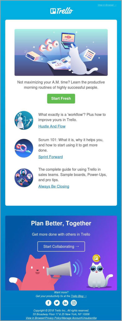The Trello newsletter