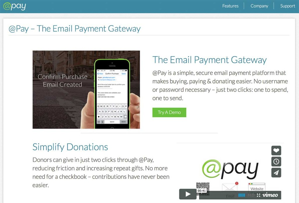 Process payments within emails with AtPay