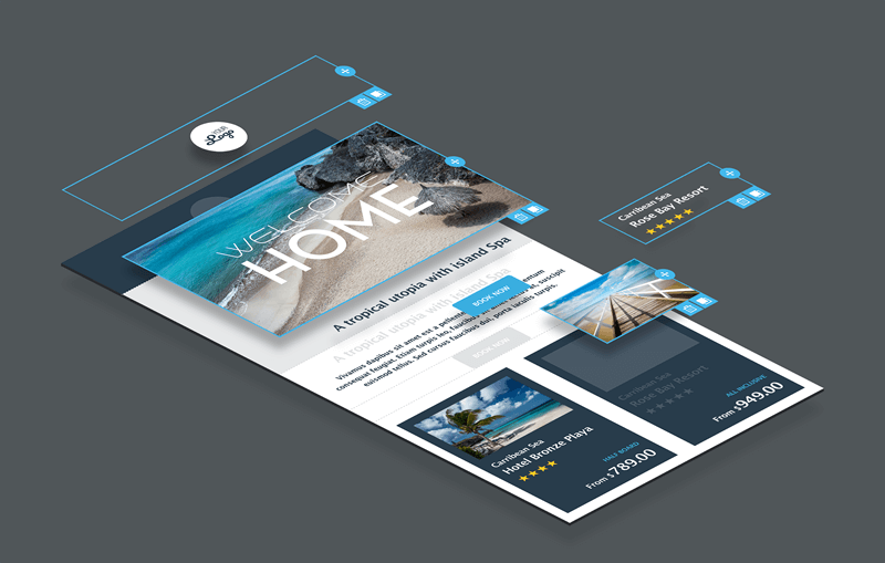 Modular and responsive email design with BEE v2