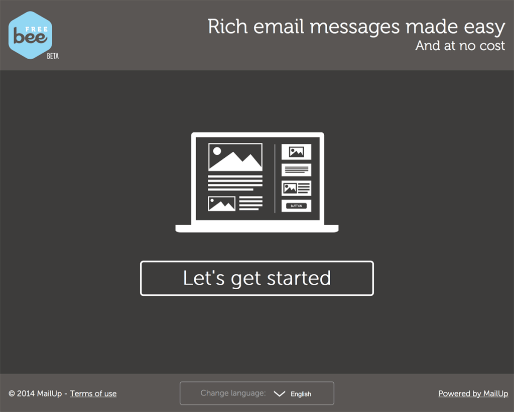Design your emails for free with the BeeFree email editor tool