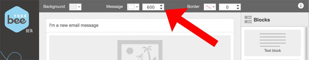 Keep emails under 600 pixels wide
