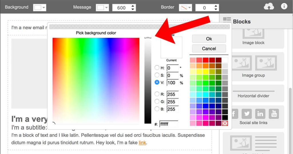 how to adjust the background color