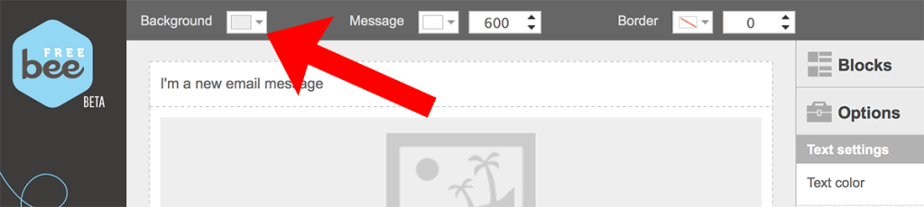 how to change the background color of an email message