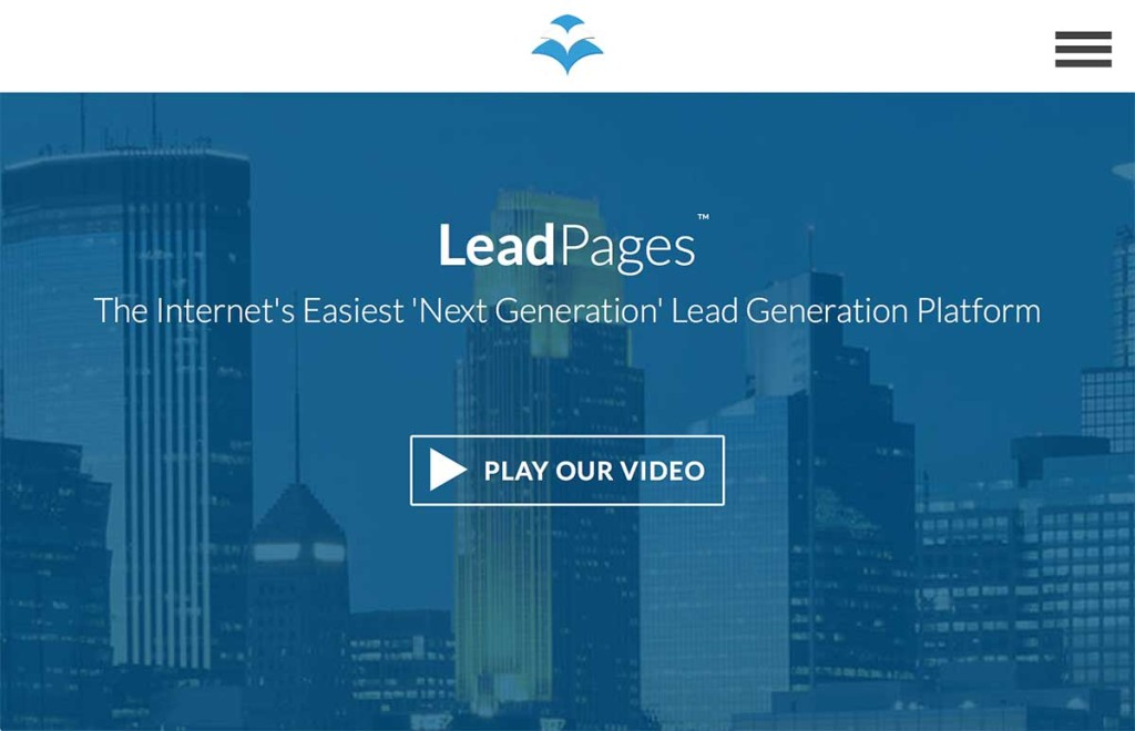 Lead Pages can create landing pages and much more.