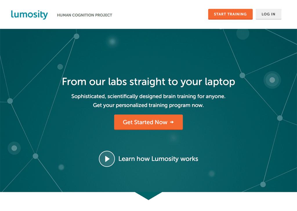 flat design on a webpage