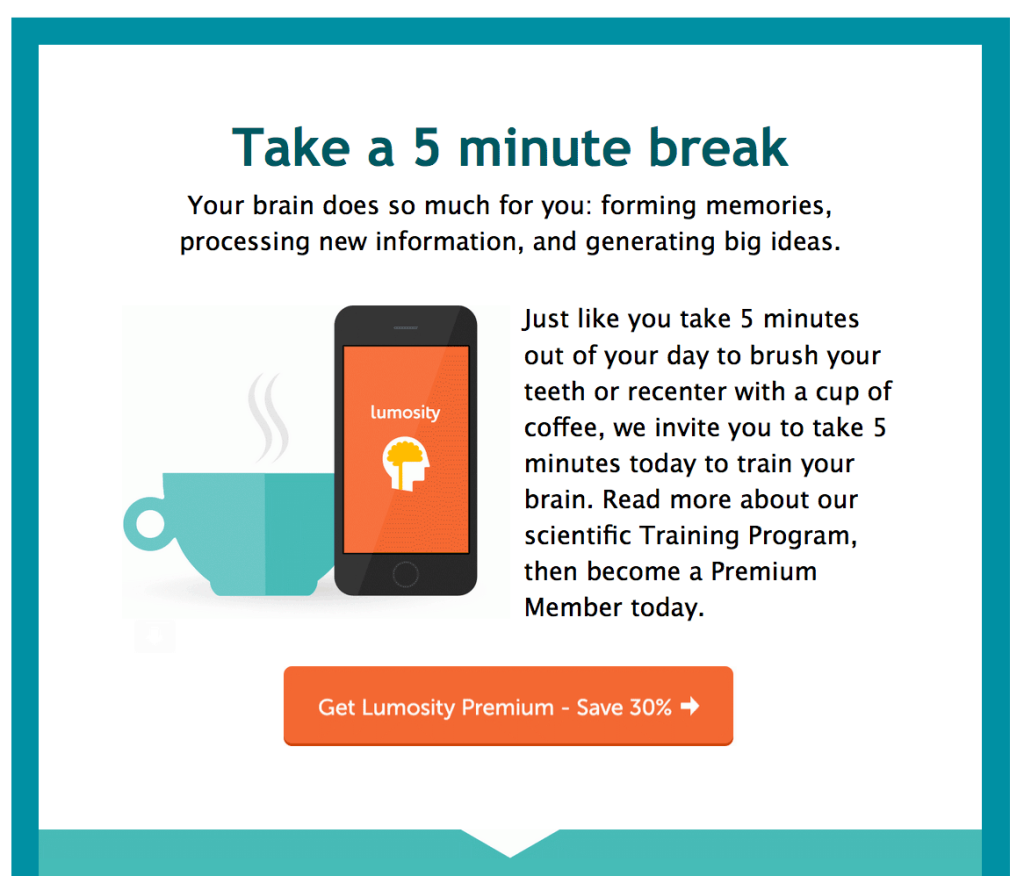 flat design in an email marketing message