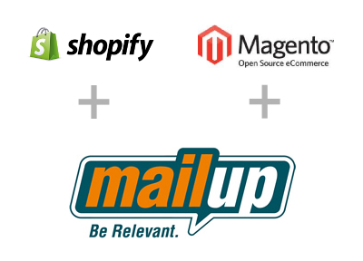 Magento and Shopify support in MailUp