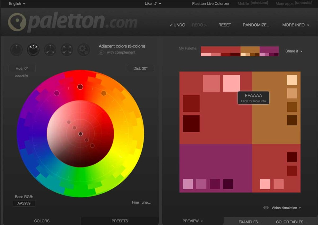 Create a beautiful color pallete