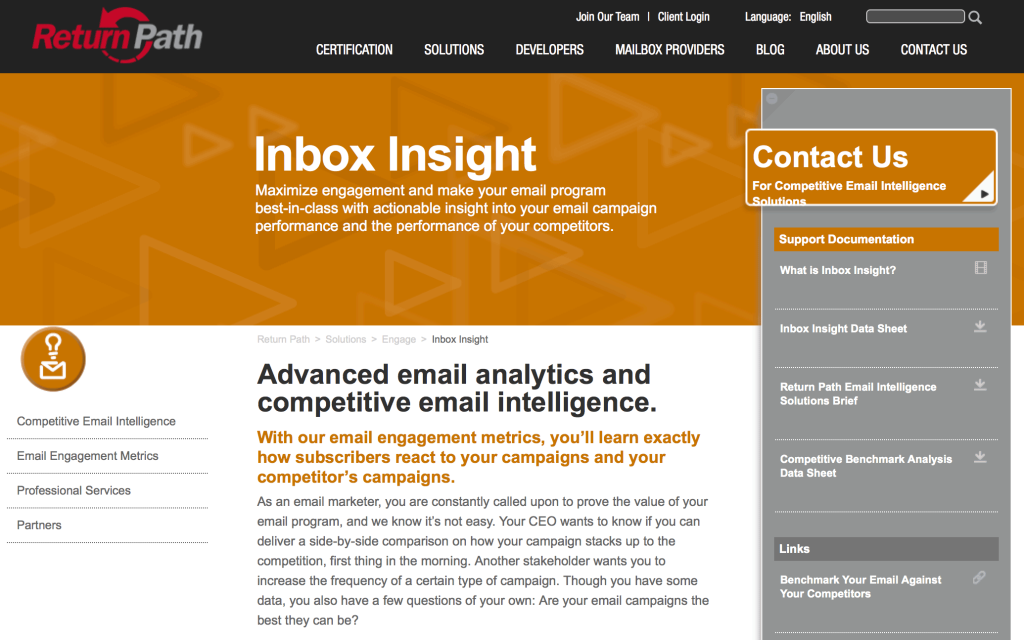 Return Path's Inbox Insight email marketing tools
