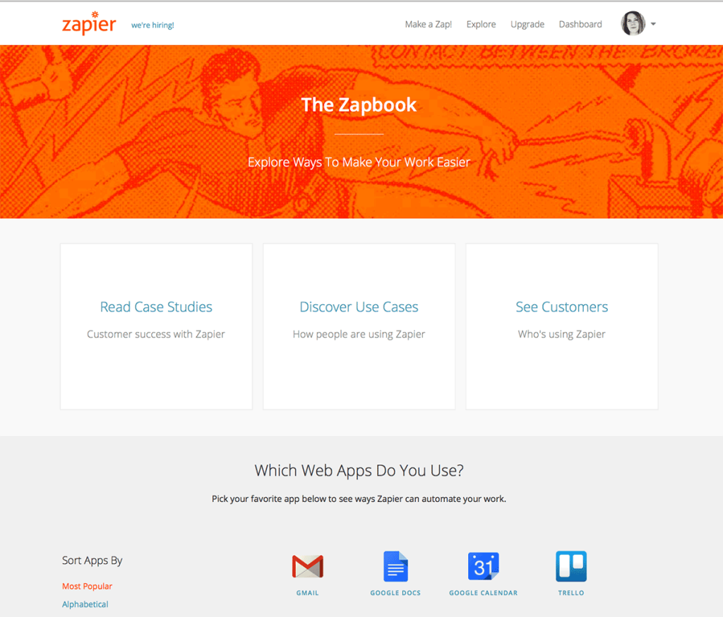 Automate marketing tasks with Zapier