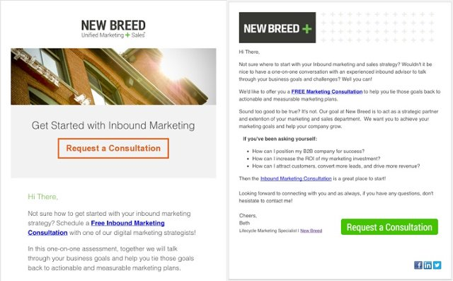 Business to business email design