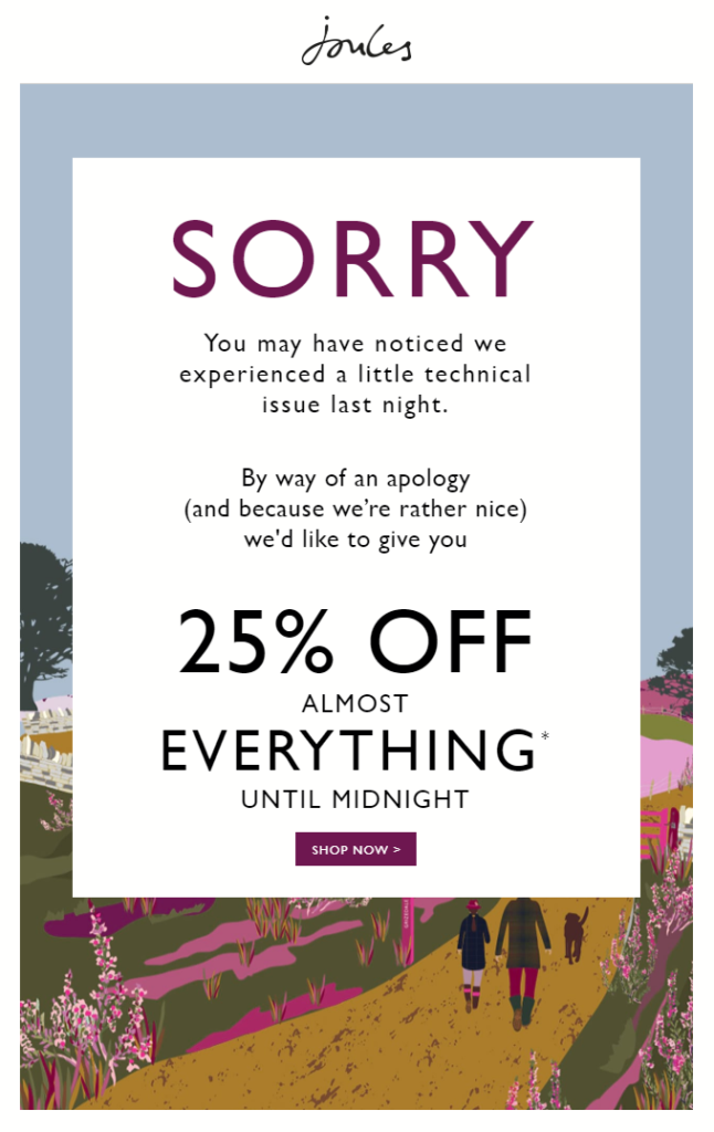 apology-email-25%-off