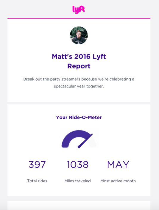 The Lyft email