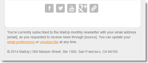Make the permission reminder specific using merge tags. Try it in the BEE email editor!