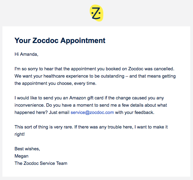 apology-feedback-zocdoc-email