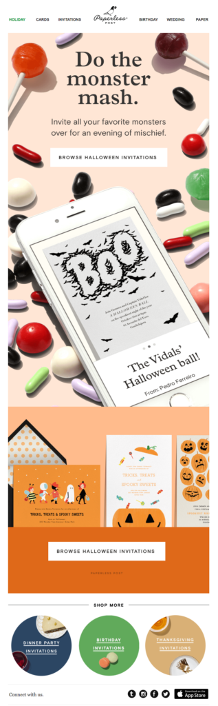 A halloween campaign.