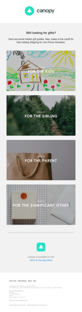 example customized christmas gift guides