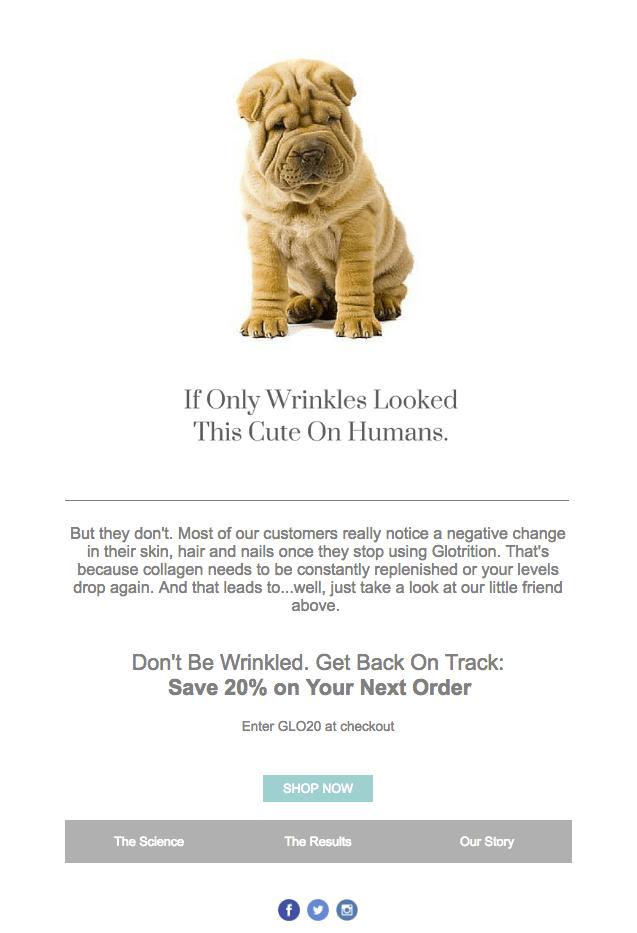 Glotrition winback email