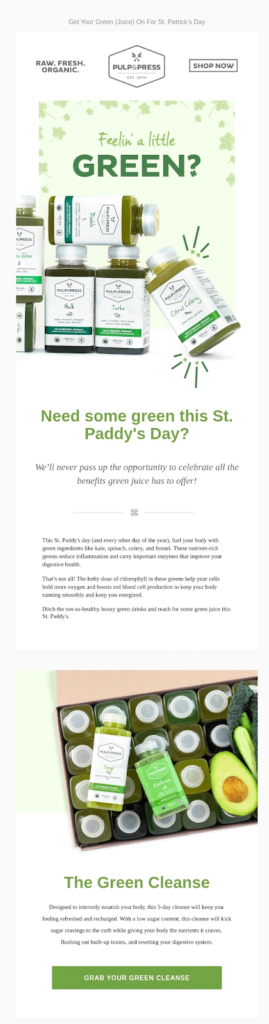 pulp press st. patrick's day