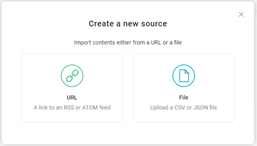 How to upload new content sources