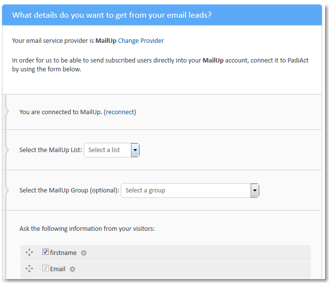 Add An Email Pop-Up on Your Website with PadiAct