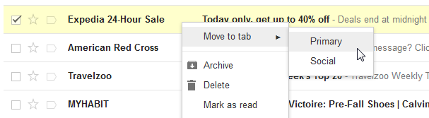 Move message to Gmail primary tab
