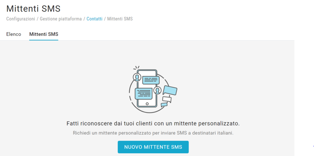 create a new SMS sender