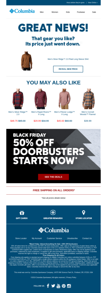 columbia-emailcampaign-blackfriday