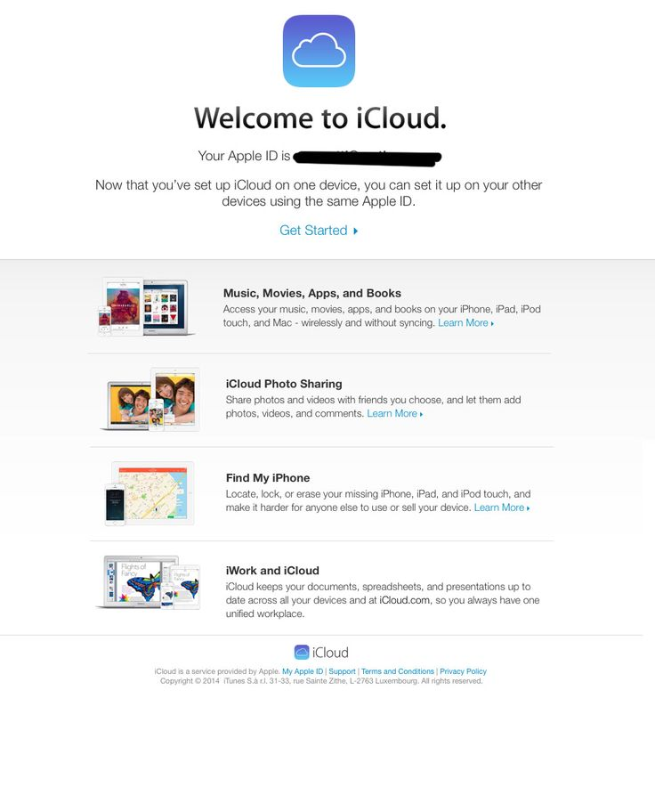 welcome email icloud mailup