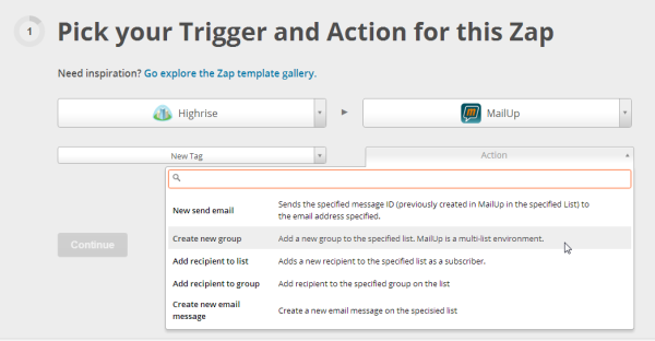 Triggers and actions in MailUp